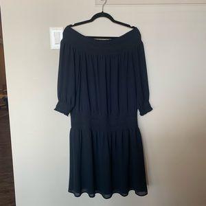 Navy Shoulderless sun dress